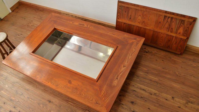 欅 囲炉裏テーブル/座卓